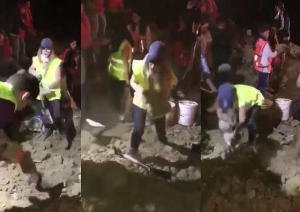 Belinda ayuda a personas tras terremoto pero sucedió lo peor - VIDEO