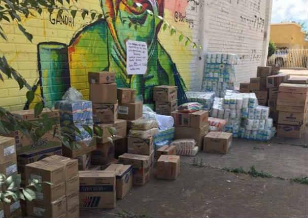 Narcos enviaron ayuda a damnificados de terremoto en México - FOTOS