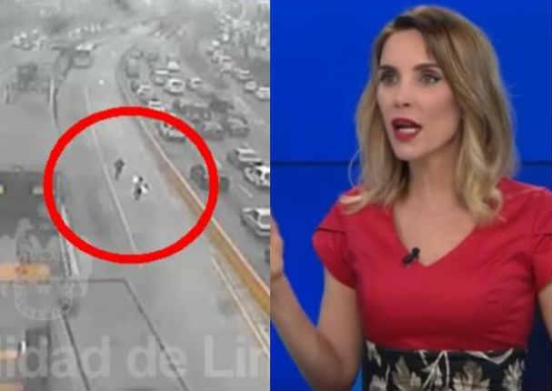 Juliana Oxenford llamó 'lacras' a marcas por balacera en la Vía Expresa - VIDEO