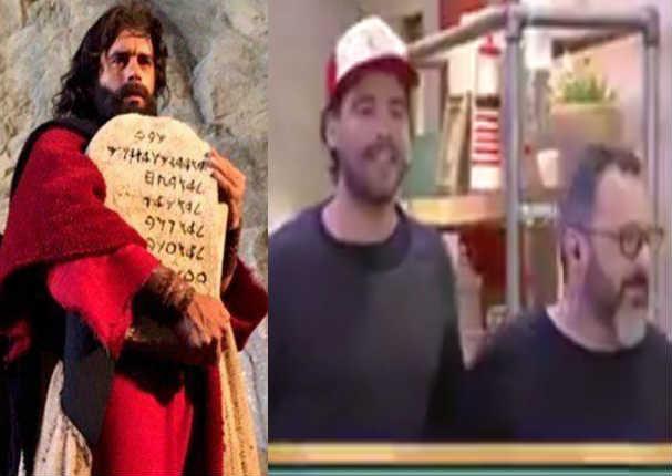 Actor de 'Moisés y los 10 mandamientos' se presentó en Argentina con gorra peruana y esta fue la reacción - VIDEO