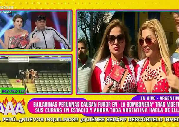 Gigi Mitre se molestó con peruanas que se desnudaron en 'La Bombonera' - VIDEO