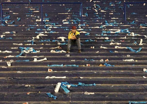 Foto de hincha argentino entristece a Argentina y se vuelve viral