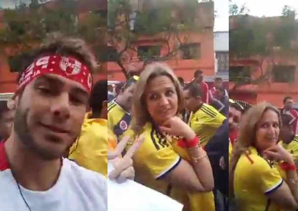 Joselito Carrera troleó a hinchas colombianos en pleno estadio - VIDEO