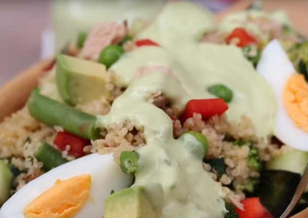 Ensalada cremosa de quinua: Comienza a comer saludable
