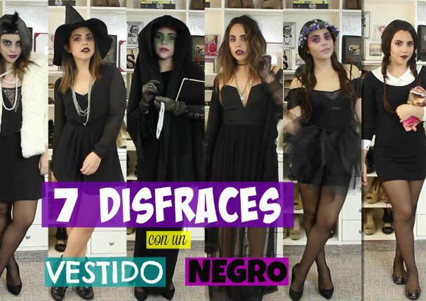 7 Disfraces con un vestido negro ¡Así de fácil! - VIDEO