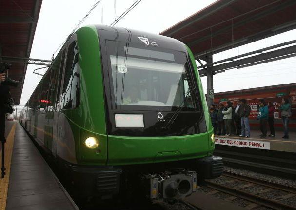 Se  presenta nuevo tren de la linea 1 del Metro de Lima