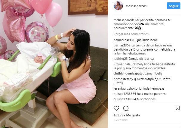 Melissa Paredes en su etapa de mamá