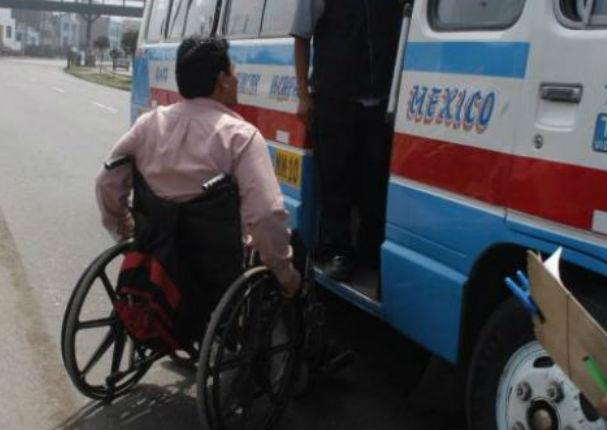 Sancionarán a empresas que no respeten el pasaje libre para personas con discapacidad.
