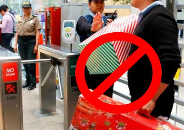 Prohíben el ingreso de paquetes grandes en el Metropolitano