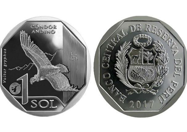 BCRP: lanza nueva moneda de S/1 sol alusiva al cóndor