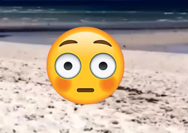 Encuentran a pareja teniendo relaciones sexuales en la playa (FOTOS)