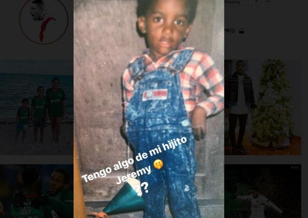 Jefferson Farfán publicó foto de infancia y deja en shock a seguidores (FOTO)