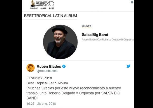 Ruben Blades: 'Salsa Big Band' gana Grammy a mejor álbum tropical latino (VIDEO)