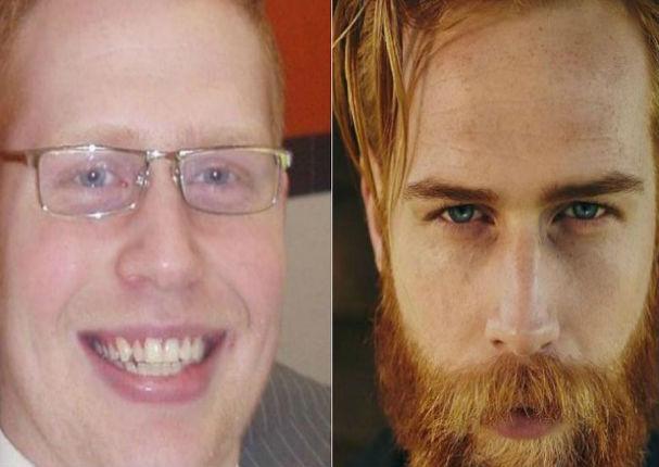 Se dejó crecer la barba y su vida cambió radicalmente (FOTOS)
