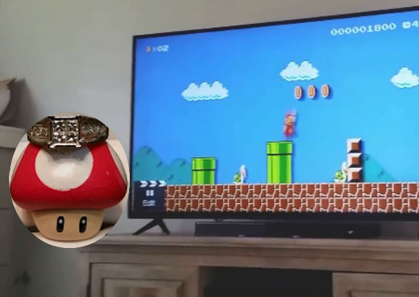 Propuesta de matrimonio gracias a Mario Bros se vuelve viral (VIDEO)