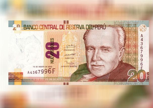 Conoce el nuevo billete de S/ 20  que circulará en el Perú