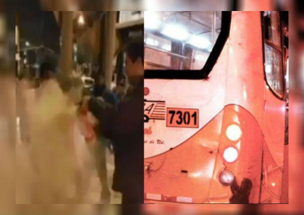 ¡Indignante! Hombre prendió fuego a mujer mientras viajaba en un bus (VIDEO)