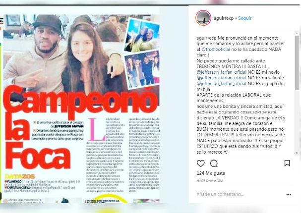 Claudia Aguirre: La tildaron de Novia de Jefferson Farfán y ahora se pronunció (FOTO)