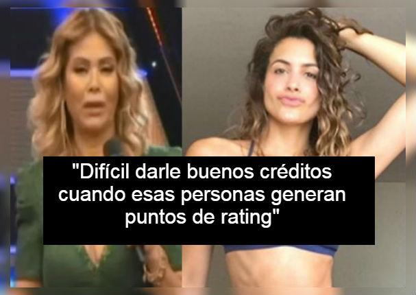 Gisela Valcárcel se cansó de críticas y defendió a Milett Figueroa (VIDEO)