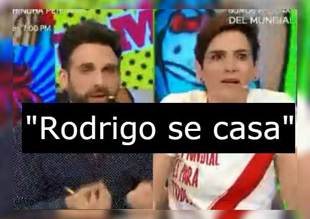 Rodrigo González anuncia matrimonio y Gigi pierde el control en vivo (VIDEO)