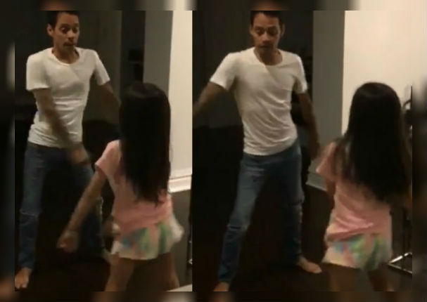 Marc Anthony causa sensación en redes con baile junto a su hija (VIDEO)