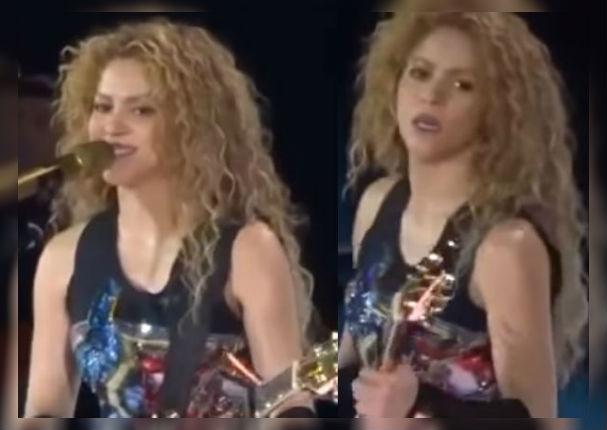 Shakira comete grave error durante concierto en vivo (VIDEO)