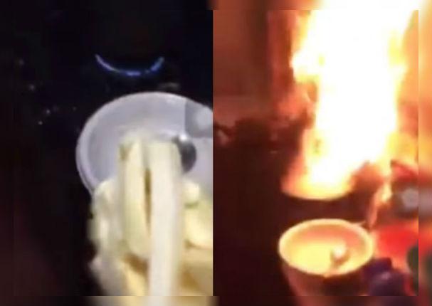 Facebook Viral: Intentó freír papas por primera vez y sucedió esto (VIDEO)