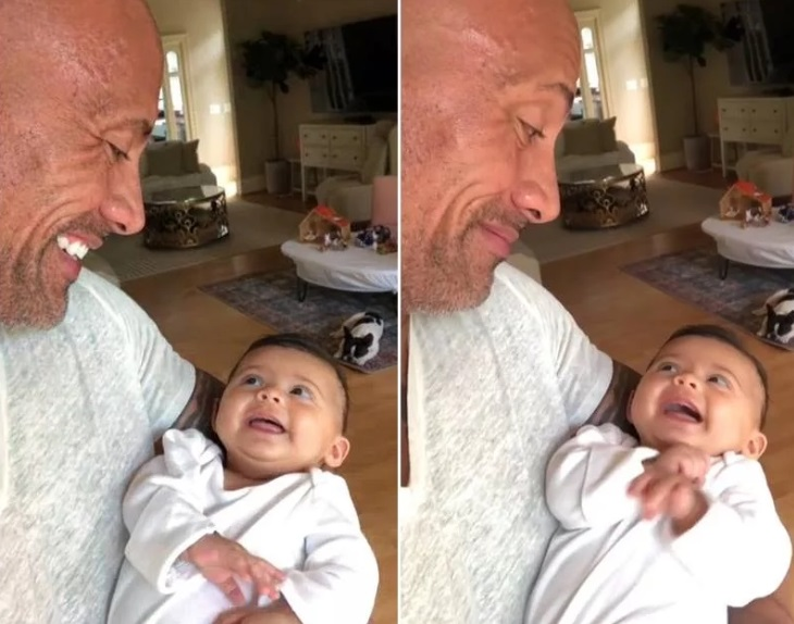 dwayne-johnson:-el-tierno-video-de-la-roca-hablando-con-su-hija-video