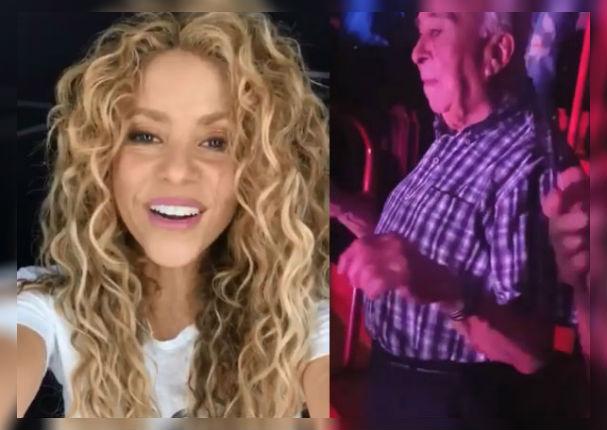 El abuelito que se volvió viral por bailar en el concierto de Shakira (VIDEO)