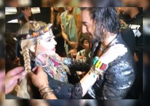 VMA: El histórico encuentro entre Maluma y Madonna que se volvió viral (VIDEO)