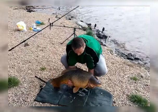 YouTube: Atrapó enorme pez sin imaginar que esto pasaría (VIDEO)