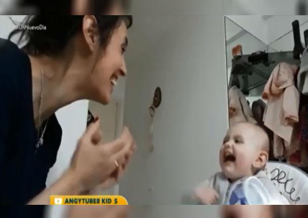 Bebé conversa muy a gusto con su madre a pesar de no saber hablar (VIDEO)