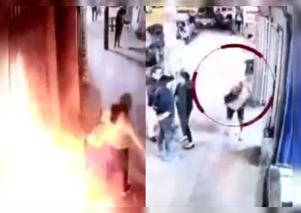 ¡Indignante! Hombre despechado ataca a mujer con bomba molotov