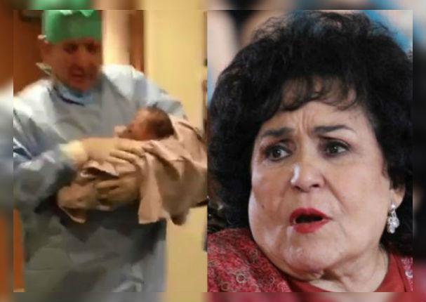 Carmen Salinas conoció a su bisnieto y su reacción tocó corazones (VIDEO)