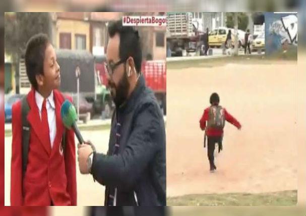 Daniel Santiago: El niño que dejó hablando solo a periodista en vivo (VIDEO)