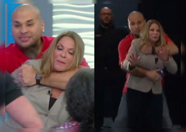 Doctora Ana María Polo fue tomada de rehén durante grabación de programa (VIDEO)