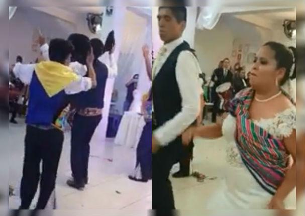Él era de Huancayo y ella de Ayacucho, su boda fue espectacular (VIDEO)