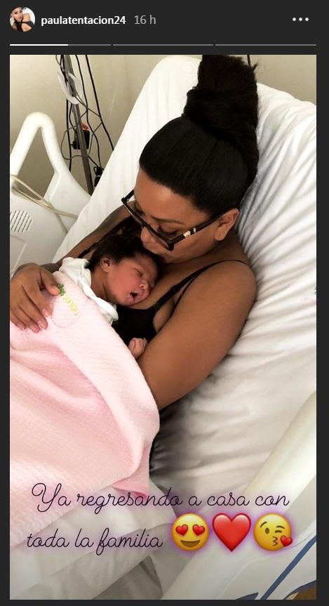 ¡Ya nació! Paula Arias se muestra orgullosa al lado de su bebé (FOTO)