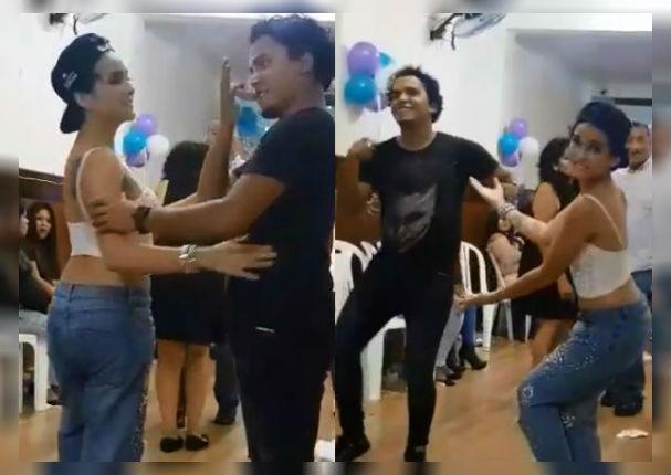 Daniela Darcourt e integrante de 'Zaperoko' la hacen linda con tremenda salsa (VIDEO)