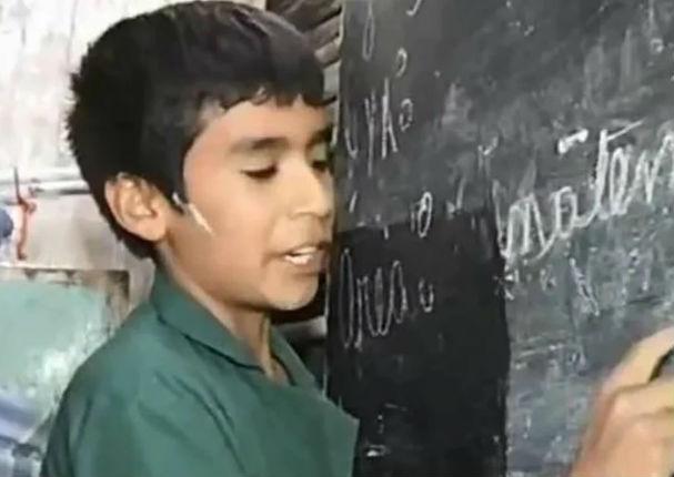 Nicanor Quinteros: El niño de 12 años que fundó una escuela para enseñar a otros