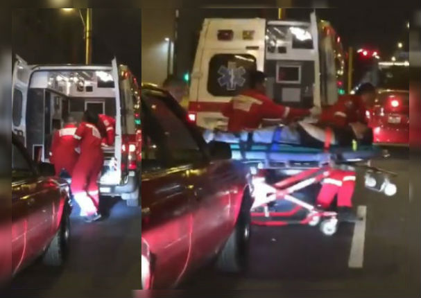 La verdad sobre viral de bomberos bajando a un herido en pleno tráfico (VIDEO)