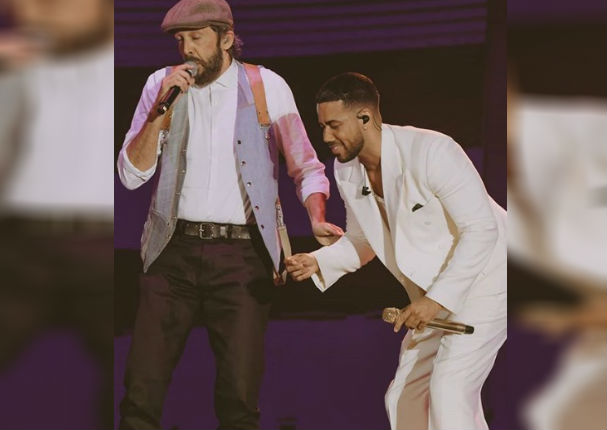 Romeo Santos, Juan Luis Guerra y Marc Anthony sorprendieron a fans en concierto (VIDEO)