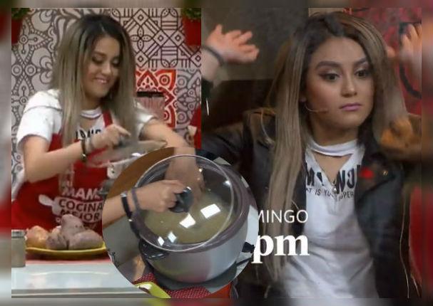 Amy Gutierrez: Cocinó frente a cámaras y el resultado no fue lo que esperaban (VIDEO)