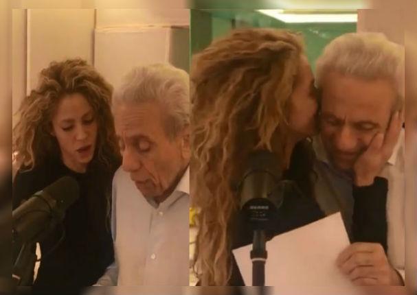 Shakira interpreta tema junto a su padre y conmueve a todos (VIDEO)