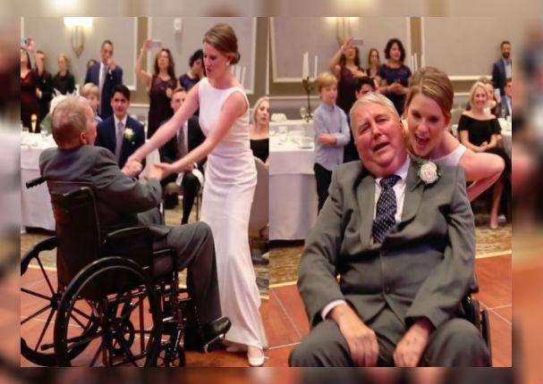 Novia le cumple el último desea a su padre antes de morir (VIDEO)
