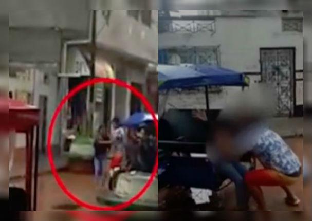 Hombre golpea a su esposa por no darle contraseña de Facebook (VIDEO)