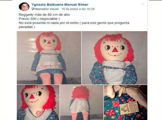 Facebook: Intentó vender muñeca antigua y lo 'trolearon' porque no estaba poseída