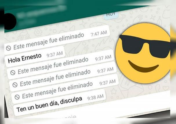 WhatsApp: Ya te permite leer los mensajes eliminados de tus amigos