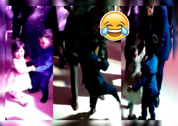 Niño se enfurece con un adulto por 'quitarle' a su pareja de baile (VIDEO)