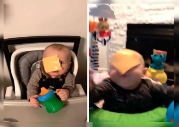 Cheese Challenge: Tirar el queso en la cara del bebé indigna a miles de usuarios